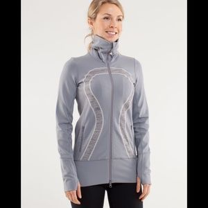 Lululemon In Stride Zip Up Jacket Fossil Gray